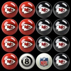 Use this Exclusive coupon code: PINFIVE to receive an additional 5% off the Kansas City Chiefs Billiard Ball Set at SportsFansPlus.com Pool Table Top, Billiard Accessories, Nfl Kansas City Chiefs, Denver Broncos, Nfl Gear, Billiards Pool, Diy Bar, Jacksonville Jaguars, Indianapolis Colts