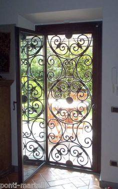 porta ferro battuto e vetro - Cerca con Google