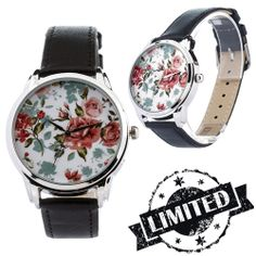 Roses Retro Watch Wristwatch / Cool Modern Retro by ZIZWatches, Retro Watches, Limited Collection, Modern Retro, Cool Stuff, Trending Outfits, Unique Jewelry, Handmade Gifts, Floral, Roses