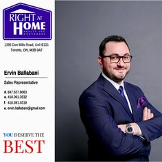 Ervin Ballabani You Deserve The BEST. BUY. SELL. LEASE Mortgage Payment Calculator, Sales Representative, You Deserve, Real Estate, The Unit, Real Estates