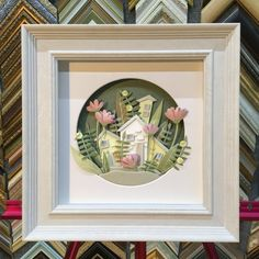 Items similar to picture. Home decor. on Etsy Paper Art, Paper Crafts, Diy Crafts, Card Crafts, Box Frame Art, Box Frames, 3d Wall Art, Wall Art Decor, Frame Crafts