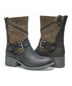 Look what I found on #zulily! Black Contrast Maggie Boot - Women #zulilyfinds