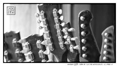 Photo 118 of 365  HANSON 2009 - Row of Guitar Headstocks - El Paso TX    There is a simple beauty to the shape of a guitar. Here is a shot of several of the main guitars used in the Shout It Out recording. Who knows the make and model of the twelve string in this picture?    #Hanson #Hanson20th