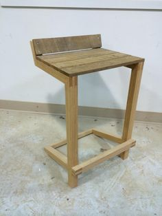 My instructor threw together a prototype chair one afternoon.