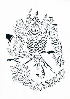Earth dragon / Дракон Земли Прорезная графика / slotted graphics