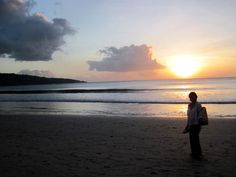 Sunset at the Beach in Bali. Click Here to read more about Bali http://www.ninadesigns.com/blog/category/bali/ #bali #travel