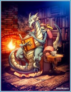 Dragon and Books. Even they realise the importance of being well read! LOL!