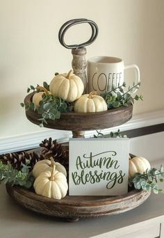 Incredibly Tiered Tray Signs-Fall Home Decor-Fall Blessing-Mini Signs- Autumn Gifts -. - Incredibly Tiered Tray Sign-Fall Home Decor-Fall Blessing Mini Sign-Fall Gifts-Housewarming Gift-Th - Fall Home Decor, Autumn Home, Rustic Fall Decor, Modern Fall Decor, Blue Fall Decor, Country Fall Decor, Fall Kitchen Decor, Kitchen Island Decor, Summer Kitchen