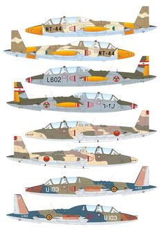 Fouga CM-170 Magister Ww2 Aircraft, Military Aircraft, Avion Jet, Profile Drawing, Aircraft Painting, Color Profile, Racing Team, Paint Schemes, Military Art