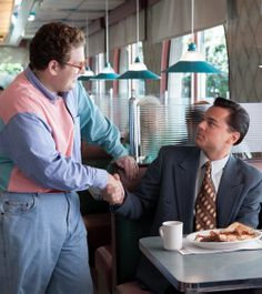 Wolf of Wall Street. Not the suit obv, but the wonderful pastel outfit on the left!