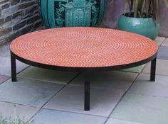 Orange Mosaic Coffee Table From Plain Air Circular Outdoor