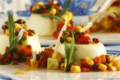 Savory Goat Cheese Panna Cotta with Beluga Lentil Relish (Panna Cotta ...