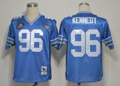 Seattle Seahawks 96 Cortez Kennedy Blue 2012 NFL Pro Football Hall of Fame Authentic Throwback Jerseys:$21