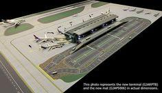 Gemini Jets GJARPTB Airside Landside LED Lighted Airport Terminal 1/400 Scale