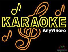 Karaoke Anywhere Neon Sign Real Neon Light