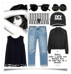 """""""If you see this just remember that you're beautiful"""" by madeinmalaysia ❤ liked on Polyvore featuring Chanel, Violeta by Mango, MANGO and Ivy Park"""