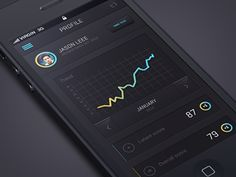 Dribbble - Untitled IOS Flat app design by Julien Renvoye