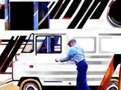 White Builder's Van