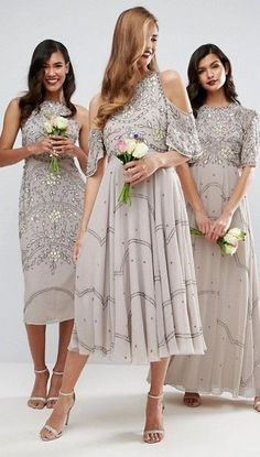 Neutral Bridesmaid Dresses by ASOS