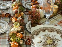 At the Table: Fall's Last Hurrah and Cornucopia Napkin Fold - Herzlich willkommen Thanksgiving Table Settings, Thanksgiving Tablescapes, Holiday Tables, Thanksgiving Ideas, Christmas Candles, Christmas Wreaths, Advent Wreaths, Fall Home Decor, Autumn Home