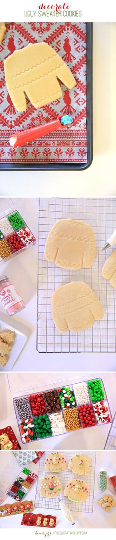 Decorate Ugly Sweater Cookies As Invitations For Y…