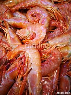 Shrimp in fish market