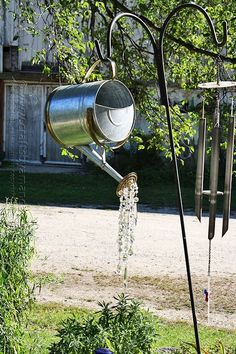 A watering can that pours crystals. a watering can that pours crystals more diy garden decor, garden crafts Diy Garden, Garden Crafts, Summer Garden, Lawn And Garden, Garden Landscaping, Upcycled Garden, Balcony Garden, Garden Web, Garden Design