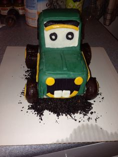 John Deere smash cake I made for a 1st birthday