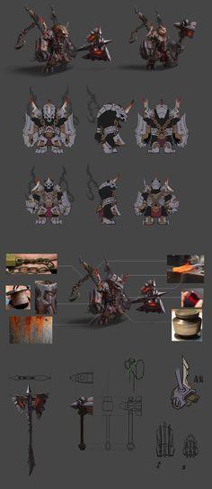 ArtStation - concept practice bear warrior, Ars Lee