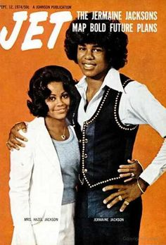 Jermaine Jackson with his wife Hazel on the cover of Jet magazine, September 1974