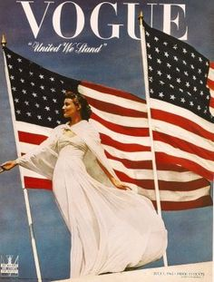 Vogue, beautiful AND patriotic... What could possibly be more glamorous