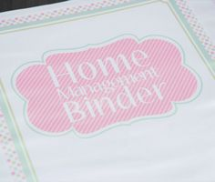 Pink polka dot home management binder.  Everything you need in one place and only one file download.
