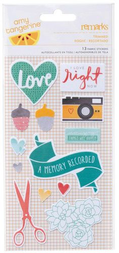 Amy Tangerine - Stitched Collection - Fabric Stickers