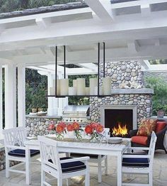 Adding an outdoor living room has become an increasingly popular home upgrade and it's not hard to see why. To start, it's a relatively straightforward and stylish way to give everyone in your home more room to spread out. Outdoor Living Rooms, Outside Living, Outdoor Dining, Outdoor Spaces, Outdoor Decor, Outdoor Kitchens, Patio Dining, Dining Room, Dining Area