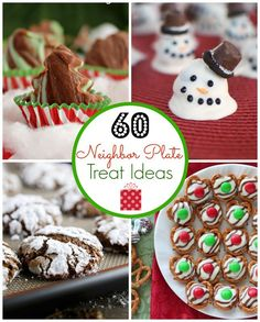 60 Holiday Neighbor Plate Treat Ideas