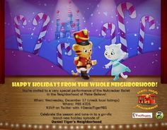 Daniel Tiger and the whole neighborhood of Make-Believe have a special holiday performance of the Nutcracker Ballet for you at 10 a.m. Dec. 17, 22 and 25 #Kids #makebelieve #dance #nutcracker #ballet #holiday #PBS #AmGradAZ