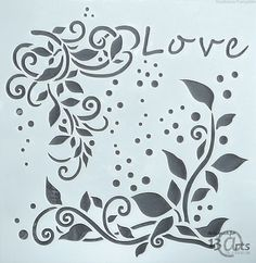 Neckline Designs, Lighted Canvas, Craft Accessories, Decoupage, Stencils, Ornament, Calligraphy, Love, Crafts