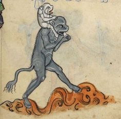 """Detail from """"The Rutland Psalter"""", medieval (c1260), British Library Add MS 62925. f 88r"""