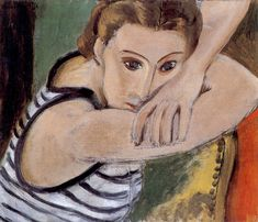BLUE EYES  / Matisse. 38 x 46 cm.  Baltimore Museum of Art, Baltimore   1934