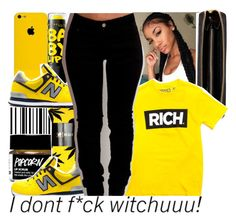 """""""I Don't F*ck Witchuuu!"""" by chynelledreamz ❤ liked on Polyvore featuring Nomadic, HUF and Maybelline"""