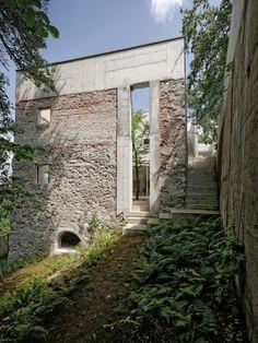 Garden House Refugium Laboratorium Klausur / Hertl Architekten Haratzmüllerstraße 41, 4400 Steyr, Austria