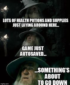 I get suspicious every time I come across caches in Skyrim! Video Game Logic, Video Games Funny, Funny Games, Gamer Humor, Gaming Memes, Cultura Nerd, Videos Fun, Game Quotes, Funny Pictures
