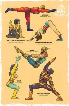 Superhero Yoga. Feel like one after :)