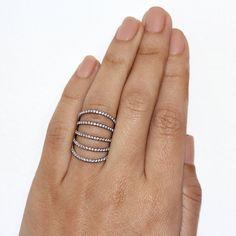 Diamond Skin Ring Diamonds Shield Lace by SillyShinyDiamonds