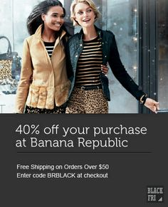 off at Banana Republic Best Black Friday, Cyber Monday Deals, Banana Republic, Winter Jackets, Leather Jacket, Spaces, Shopping, Fashion, Winter Coats