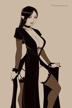 Female vampire by BBC Chan Fantasy Girl, Chica Fantasy, Fantasy Women, Dark Fantasy, Fantasy Character Design, Character Art, Female Character Concept, Anime Sensual, Vampire Art