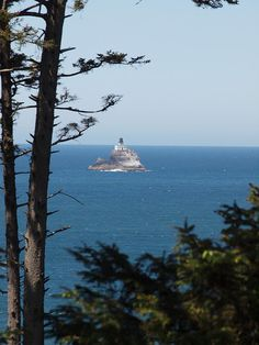 Tillamook Rock Light is a deactivated lighthouse on the Oregon Coast located approximately 1.2miles offshore from Tillamook Head on less than an acre of basalt rock in the Pacific Ocean.