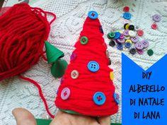 Diy Albero di Natale di Lana Super Mamma, Christmas Ornaments, Holiday Decor, Christmas Jewelry, Christmas Decorations, Christmas Decor