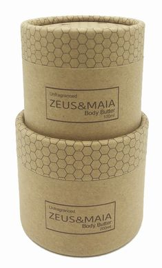 zeus&maia body butter cardboard packaging made in South Africa Cardboard Packaging, Body Products, Body Butter, South Africa, How To Make, Whipped Body Butter