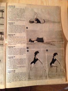 39: Hamstring Stretch (Floor) (Do 50 pulses on each leg), 40: Crossover (Do 50 pulses on each leg), 41- 42: ?